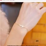 Hình ảnh nguồn hàng Vòng tay mạ vàng nữ mỏng thánh giá thời trang giá sỉ quảng châu taobao 1688 trung quốc về TpHCM