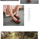 Hình ảnh nguồn hàng Giày da nữ gài dây gót vuông đính nơ dễ thương giá sỉ quảng châu taobao 1688 trung quốc về TpHCM