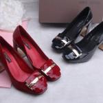 Hình ảnh nguồn hàng Giày cao gót nữ da bóng gót vuông thời trang sang trọng giá sỉ quảng châu taobao 1688 trung quốc về TpHCM