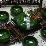 Hình ảnh nguồn hàng Set khay bình và 6 ly gốm Trung Hoa nhiều màu sắc độc đáo giá sỉ quảng châu taobao 1688 trung quốc về TpHCM