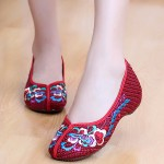 Hình ảnh nguồn hàng Giày búp bê nữ vải mềm họa tiết dân gian giá sỉ quảng châu taobao 1688 trung quốc về TpHCM