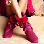 Hình ảnh nguồn hàng Giày boot nữ nhung dày dễ thương giá sỉ quảng châu taobao 1688 trung quốc về TpHCM