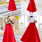 Hình ảnh nguồn hàng Chân váy len nữ xòe dài thanh lịch giá sỉ quảng châu taobao 1688 trung quốc về TpHCM