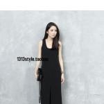 Hình ảnh nguồn hàng Đầm nữ dài sát nách xẻ tà phong cách  giá sỉ quảng châu taobao 1688 trung quốc về TpHCM