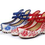 Hình ảnh nguồn hàng Giày vải bệt gài nút thêu nổi độc đáo giá sỉ quảng châu taobao 1688 trung quốc về TpHCM
