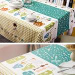 Hình ảnh nguồn hàng Khăn trải bàn ăn chữ nhật họa tiết dễ thương giá sỉ quảng châu taobao 1688 trung quốc về TpHCM
