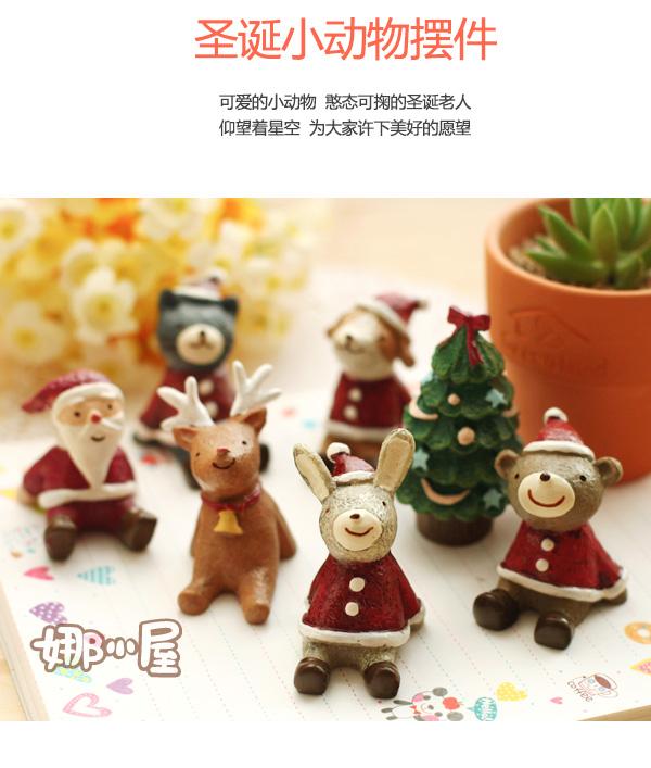Tượng con vật bằng nhựa trang trí Noel dễ thương Mua Bán Sỉ Lẻ Order Quảng Châu
