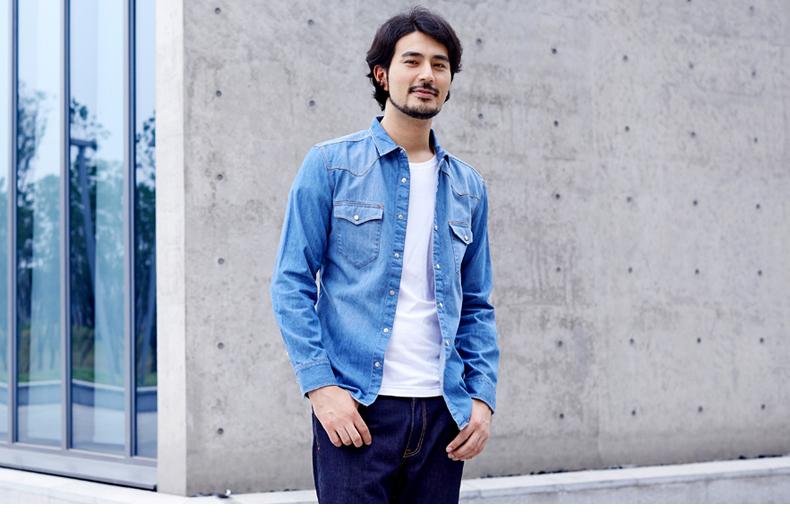 Áo sơ mi jean nam tay dài thời trang phong cách Mua Bán Sỉ Lẻ Order Quảng Châu