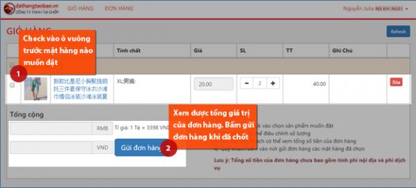Trang website dat hang taobao buon si