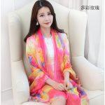 Hình ảnh nguồn hàng Khăn choàng vải hoa dành cho phụ nữ xinh đẹp giá sỉ quảng châu taobao 1688 trung quốc về TpHCM