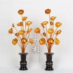 Hình ảnh nguồn hàng Đèn thờ bình hoa sen mạ vàng giá sỉ quảng châu taobao 1688 trung quốc về TpHCM