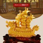 Hình ảnh nguồn hàng Thuyền rồng vàng trang trí đẹp nhất giá sỉ quảng châu taobao 1688 trung quốc về TpHCM