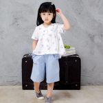 Hình ảnh nguồn hàng Bộ quần áo đơn giản dành thoáng dành cho bé vào ngày hè giá sỉ quảng châu taobao 1688 trung quốc về TpHCM